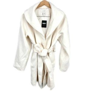 New! White Belted Peacoat Size Med